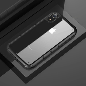 BASEUS Panzer Series Transparent Acrylic + TPU Hybrid Back Shell Cover for iPhone XR 6.1 inch - Black