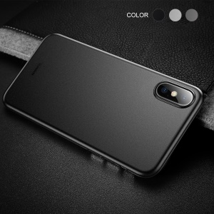 BASEUS Wing Series Ultra Thin Matte PP Back Case for iPhone Xs 5.8-inch - Solid Black