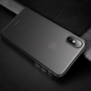 BASEUS Wing Series Ultra Thin Matte PP Back Case for iPhone Xs 5.8-inch - Transparent Black