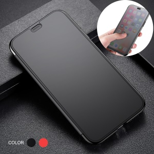 BASEUS Translucent View Window Touchable Plastic + TPU Hybrid Case for iPhone XS Max 6.5 inch - Black