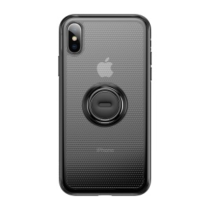 BASEUS Dot Bracket Kickstand TPU Back Cover Shell for iPhone XS Max 6.5 inch - Black