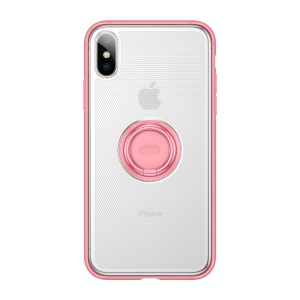 BASEUS Dot Bracket Kickstand TPU Mobile Phone Case for iPhone XS Max 6.5 inch - Pink