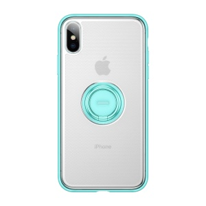 BASEUS Dot Bracket TPU Mobile Phone Shell with Kickstand for iPhone XS Max 6.5 inch - Blue