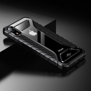 BASEUS for iPhone XR 6.1 inch Tyre Series Silicone + Acrylic Hybrid Anti-slip Shockproof Case - Black