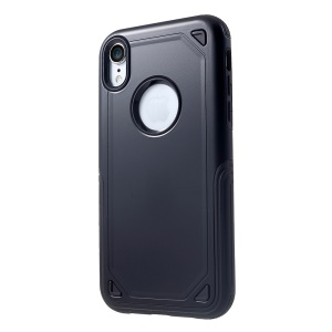 For iPhone XR 6.1 inch Hybrid PC + TPU Armor Rugged Protective Back Cover - Black