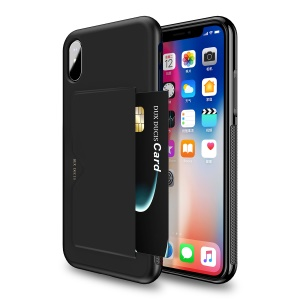 DUX DUCIS Pocard Series for iPhone XS Max 6.5 inch PU Leather Coated PC TPU Hybrid Case - Black