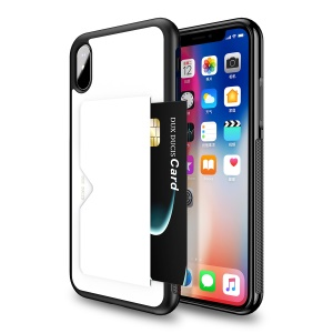 DUX DUCIS Pocard Series for iPhone XS Max 6.5 inch PU Leather Coated PC TPU Combo Phone Accessory Case - White