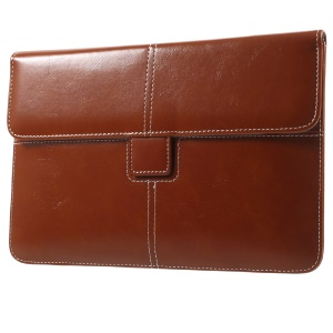 Business Style PU Leather Pouch for iPad mini 4/3/2/1, Size: 226 x 149mm - Brown
