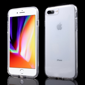 Touchable TPU Front + PC Back 2-in-1 Full Protection Casing for iPhone 8 Plus / 7 Plus 5.5 inch - Transparent