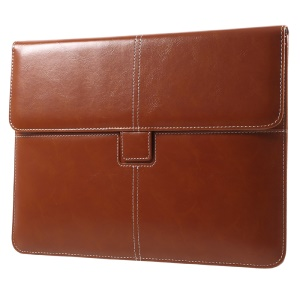 Business Style Leather Pouch Cover for iPad Air 2, Size: 263 x 200mm - Brown