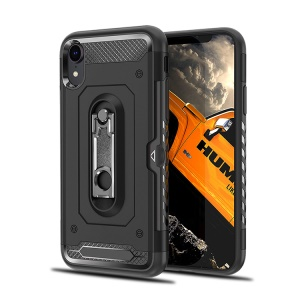 Armor Rugged PC + TPU Hybrid Cover with Kickstand for iPhone XR 6.1 inch - Black