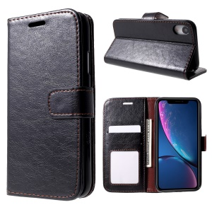 Crazy Horse PU Leather Protection Mobile Phone Case for iPhone XR 6.1 inch - Black