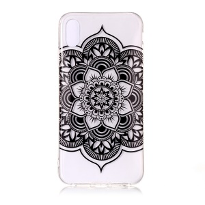 Pattern Printing IMD TPU Soft Phone Cover Shell for iPhone XS/X 5.8 inch - Lotus