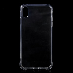 Drop-proof Clear TPU Back Case Cover for iPhone Xs Max 6.5-inch with Special Sound Holes - Transparent