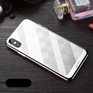 SULADA Electroplated Soft TPU Cell Phone Cover for iPhone XS Max 6.5 inch - Silver
