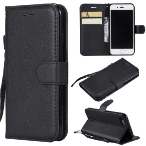 Wallet Leather Stand Case for iPhone 8/7 - Black