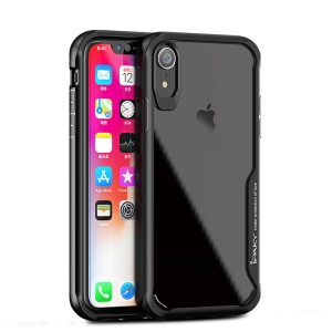 IPAKY Anti-drop Clear PC + TPU Hybrid Phone Case for iPhone XR 6.1 inch - Black