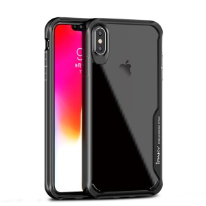 IPAKY Anti-drop PC + TPU Hybrid  Phone Case Accessory for iPhone XS Max 6.5 inch - Black