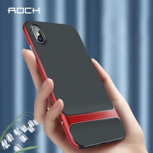 ROCK Royce Series PC + TPU Hybrid Mobile Back Cover for iPhone XS Max 6.5 inch - Red