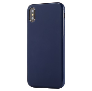SULADA TPU Back Mobile Shell for iPhone XR 6.1 inch (Built-in Magnetic Holder Metal Sheet) - Dark Blue