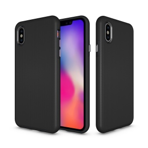 Anti-skid Hybrid Back Case for iPhone Xs Max 6.5-inch TPU PC Armor Mobile Phone Case - Black
