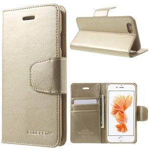 MERCURY GOOSPERY Sonata Diary Leather Case for iPhone 6s 6 4.7 - Gold