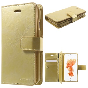 MERCURY GOOSPERY Mansoor Leder Brieftasche Flip Fall Für IPhone 6s 6 - Gold