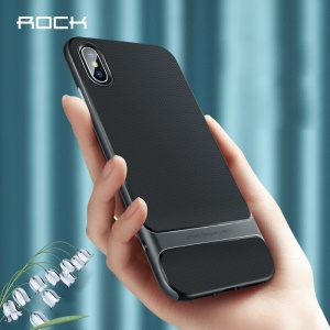 ROCK Royce Series for iPhone Xs 5.8 inch PC + TPU Hybrid Case - Grey