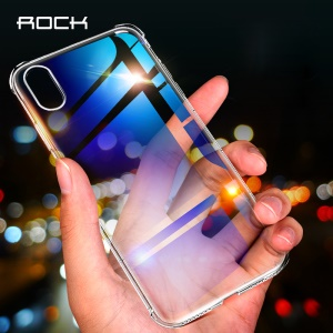 ROCK Ultra Thin Air Cushion Drop-proof TPU Mobile Phone Cover for iPhone XS / X 5.8 inch