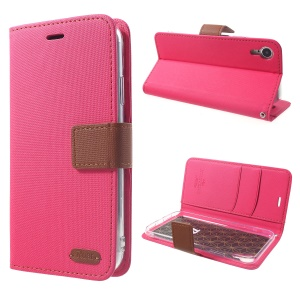 ROAR Simply Life Diary Leather Case for iPhone XR 6.1 inch Wallet Stand Phone Cover - Rose