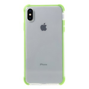 Two Colors Shock-proof TPU Mobile Phone Shell for iPhone XS Max 6.5 inch - Green