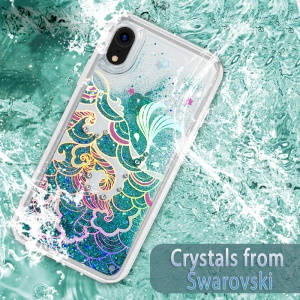 KAVARO Swarovski Rhinestone PC TPU Hybrid Cover for iPhone XR 6.1 inch - Wave