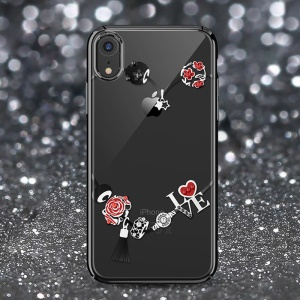 KAVARO Swarovski Rhinestone Electroplating PC Case for iPhone XR 6.1 inch - Rose