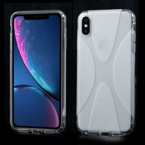 X Shape Anti-slip TPU Phone Case for iPhone XS Max 6.5 inch - Transparent