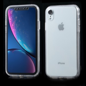 For iPhone XR 6.1 inch Two Pieces Front TPU + PC Back Full Body Protection Case