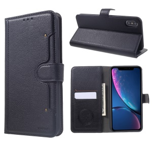 KAIYUE Wallet Leather Stand Case for iPhone XS Max 6.5 inch - Black