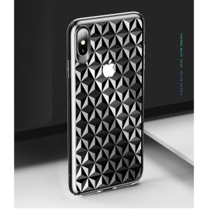 USAMS Diamond Pattern TPU Back Cover for iPhone XS/X 5.8 inch - Transparent