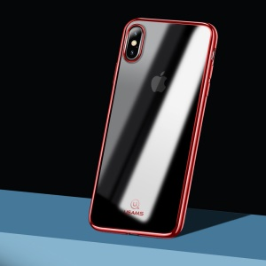 USAMS Kingdom Series Electroplated Soft TPU Shell for iPhone XS Max 6.5 inch - Red