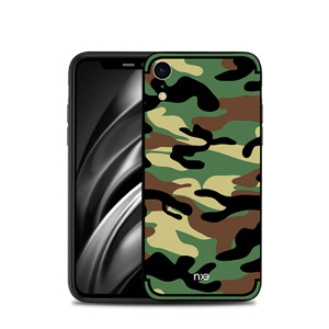 NXE Camouflage Pattern PC + TPU Hybrid Shell for iPhone XR 6.1 inch - Army Green