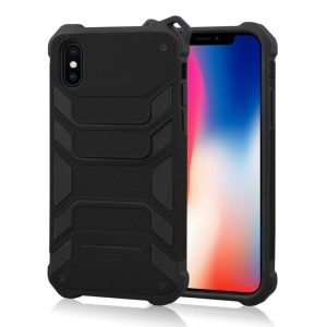 ANGIBABE Spider Series TPU+PC Shockproof Hybrid Phone Casing for iPhone Xs 5.8 inch - Black