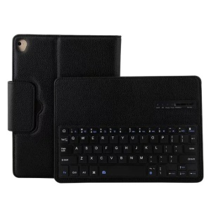 Detachable Bluetooth Keyboard Litchi Texture Leather Case for iPad 9.7-inch (2018)/9.7-inch (2017)/Pro 9.7 inch (2016)/Air 2/Air - Black