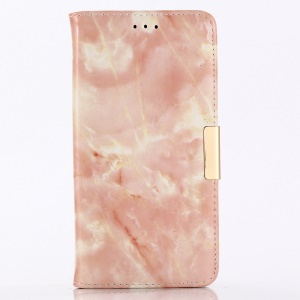 Marble Texture Wallet Leather Shell With Stand for iPhone XR 6.1 inch - Pink