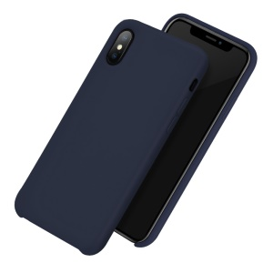 HOCO Pure Series Rubberized Hybrid Mobile Phone Casing for iPhone XS MAX 6.5 inch - Dark Blue