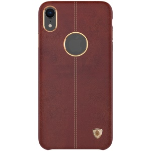 NILLKIN Englon Series Crazy Horse Texture Leather Coated PC Back Shell Case for iPhone XR 6.1 inch - Brown