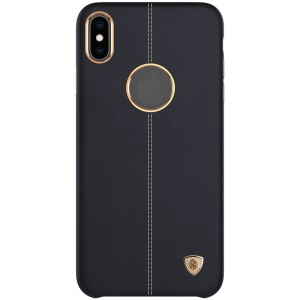 NILLKIN Englon Series Crazy Horse Texture Leather Coated PC Cell Phone Case for iPhone XS Max 6.5 inch - Black