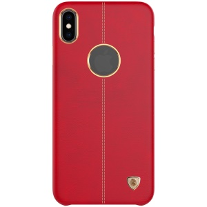 NILLKIN for iPhone Xs 5.8 inch Englon Series Crazy Horse Texture Leather Coated PC Mobile Cover - Red
