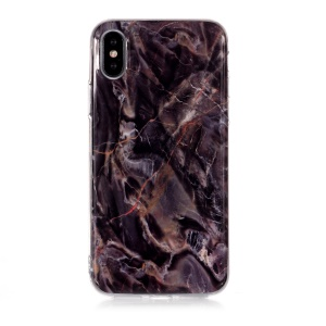 Marble Pattern Flexible IMD TPU Case for iPhone XS 5.8 inch - Style O