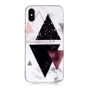 Marble Pattern IMD TPU Back Shell for iPhone XS 5.8 inch - Style S