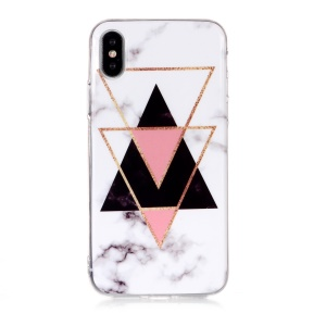 Marble Pattern IMD TPU Phone Shell Cover Case for iPhone XS 5.8 inch - Style V