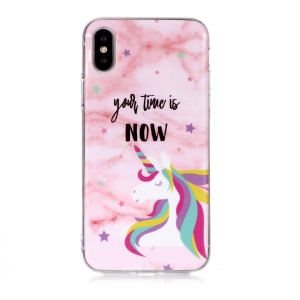 Marble Pattern IMD TPU Protective Shell for iPhone XS Max 6.5 inch - Style I